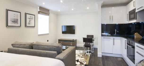 Ashburn Court South Kensington Serviced Apartments London - Living Area | Urban Stay