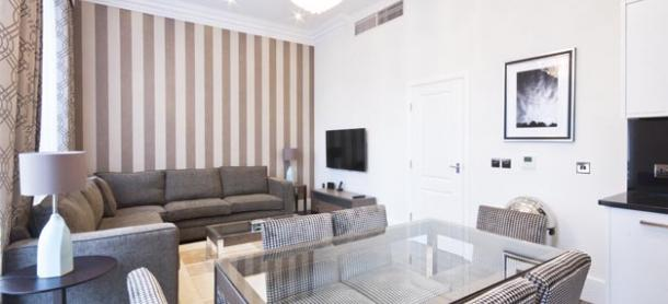 Ashburn Court South Kensington Serviced Apartments London - Stylish Living Room | Urban Stay