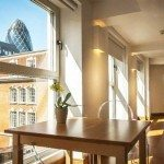 Book Serviced Accommodation Aldgate in The City of London now! Luxury London Apartments with views of the London Skyline! Aircon, Balcony & Lift Access incl at India Street Apartments!