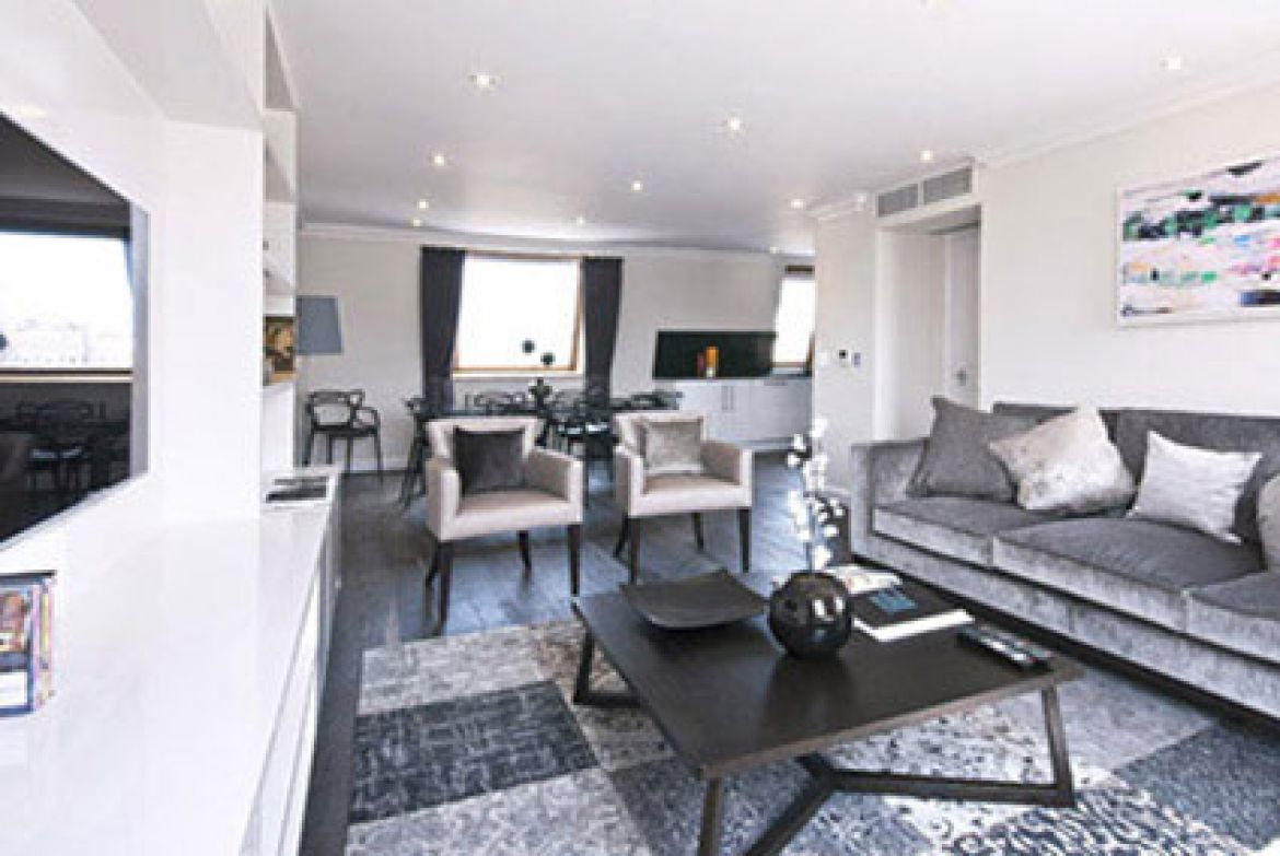 Manson Place Short Stay Apartments South Kensington - Serviced Accommodation London - living room
