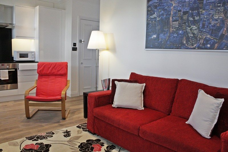Notting Hill Apartments - Short Term Corporate Accommodation London by Urban Stay - Living Room 320