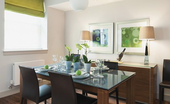 Marylebone Serviced Apartments Central London dining area for four guests Urban Stay