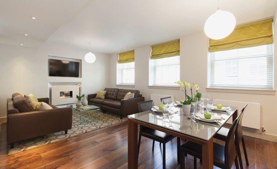 Marylebone Serviced Apartments Central London living room and dining area Urban Stay