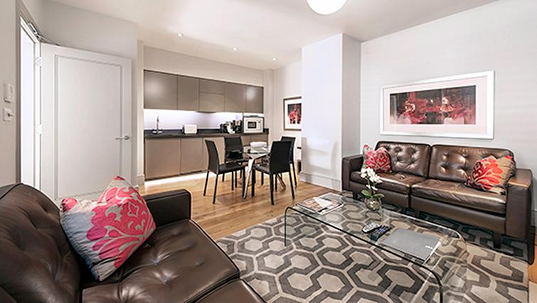 Marylebone Serviced Apartments Central London open plan living room Urban Stay