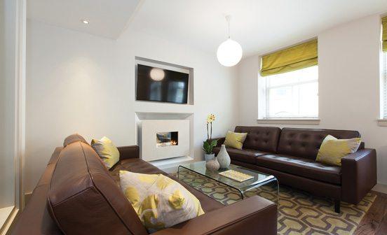 Marylebone Serviced Apartments Central London stylish living room Urban Stay