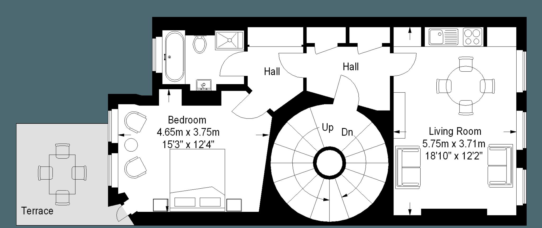 Marylebone Serviced Apartments floorplan 1
