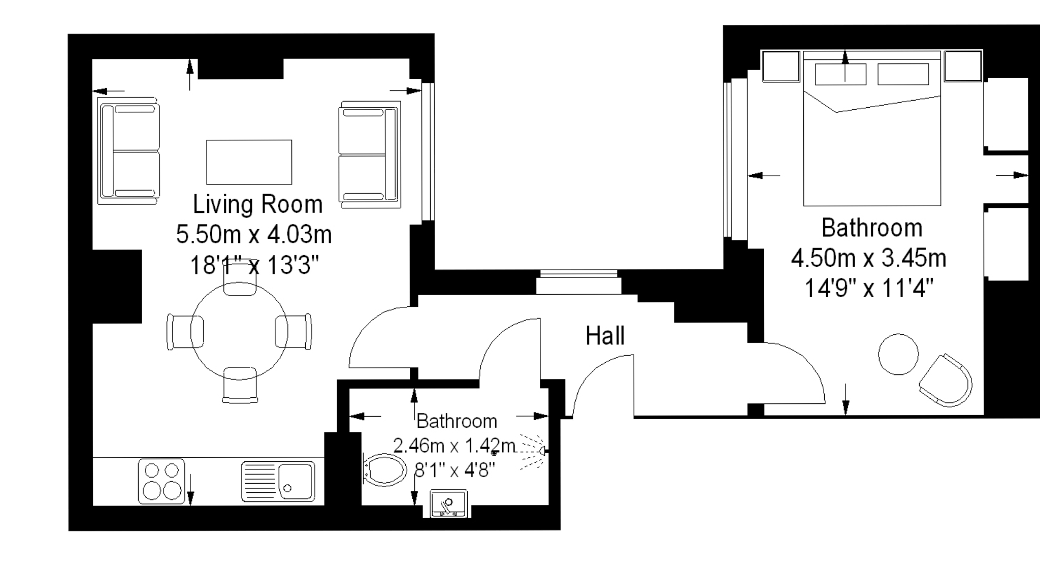 Marylebone Serviced Apartments floorplan two bedroom