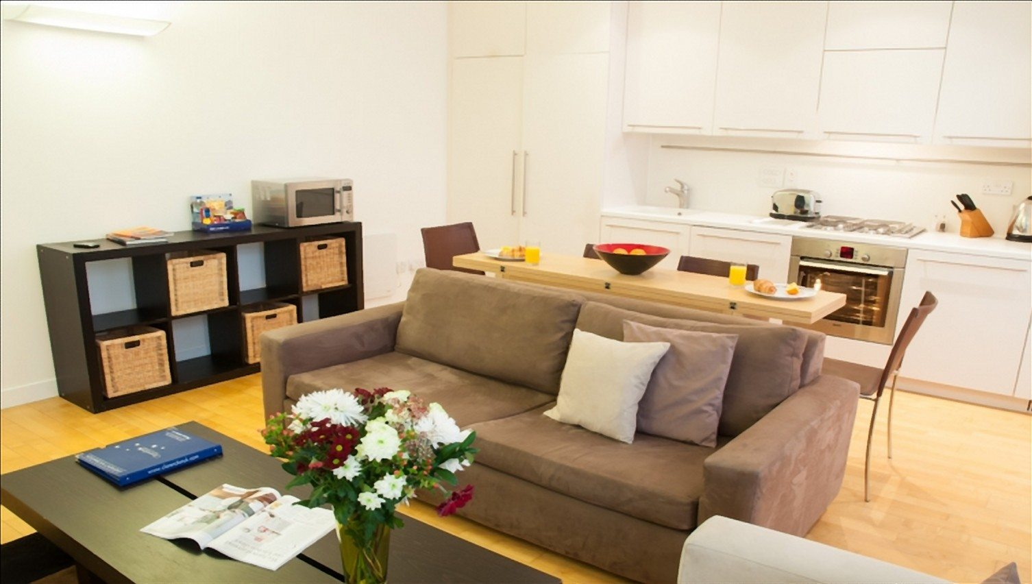 Serviced-Accommodation-Liverpool-Street---Steward-Street-Apartments-Kitchen-and-Living-Room