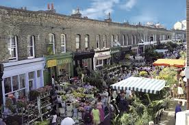 Columbia Road Flower Market and Shops Shoreditch London