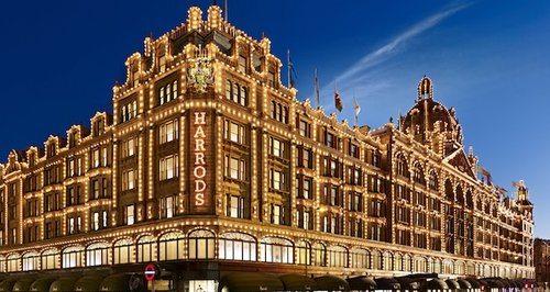 Harrods Knightsbridge Christmas Lights and Shopping London