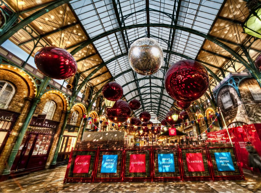 London Christmas Shopping Itinerary where to go Apple Market Covent Garden