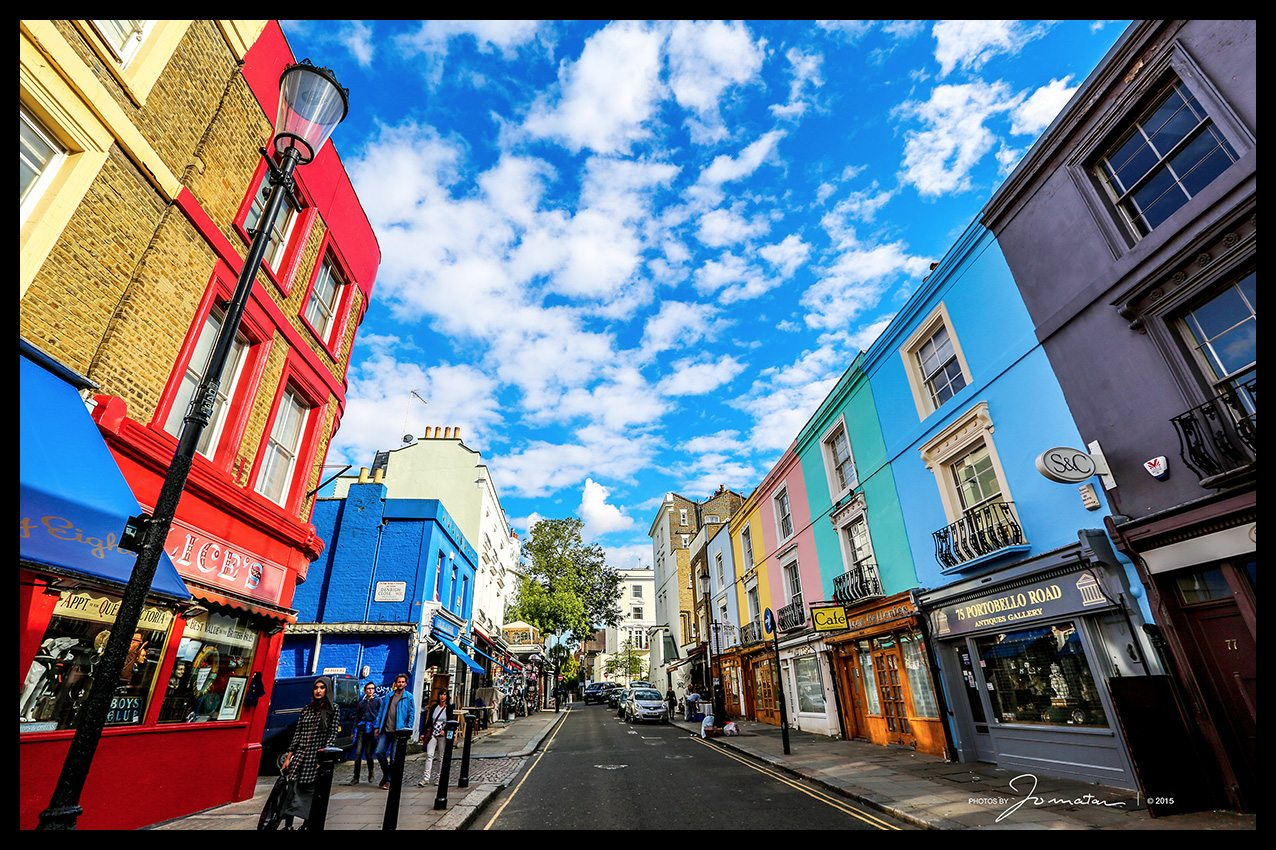 Portobello Road Notting Hill London - Best Place For Christmas Shopping