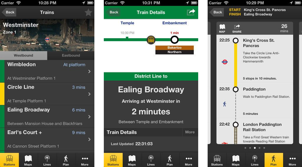 Best London Apps - London Tube App