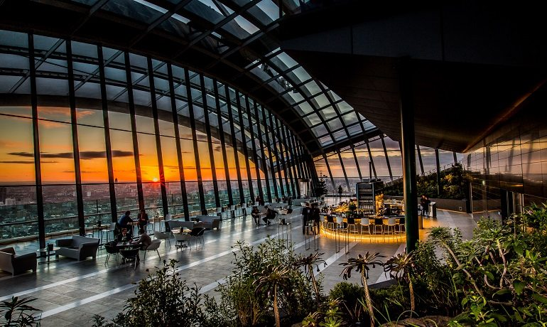 Best Romantic Places London Sky Garden - Dine in the Sky
