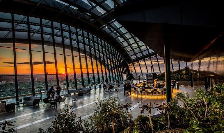 Best Romantic Places London Sky Garden - Dine in the Sky