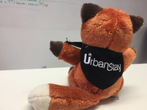 Urban Stay's Serviced Apartments Mascot - Felix The Fox