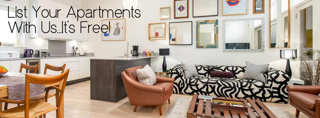 List Your Serviced Apartments with Urban Stay - 100% Free - Worldwide Locations - Professional Support