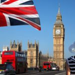 12304347 Big Ben With Flag Of England, London, Uk