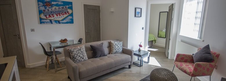 Verona Serviced Apartments Slough available NOW! Book modern and stylish Verona Serviced Apartments with full Sky package, On-site gym, Concierge and more!