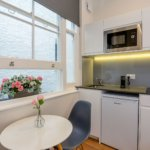 Serviced Apartments Queensborough bordering Hyde Park provides contemporary formed studios- Fully Furnished, Wi-Fi, Extra Amenities and Luggage Storage!